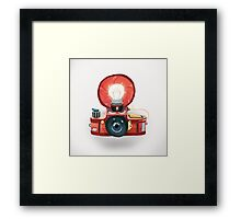 Bulb flash Framed Print