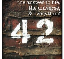 42 - The Meaning of Life by eyeshoot