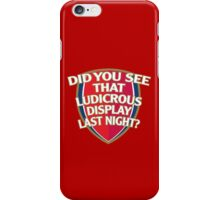 Did you see that Ludicrous display last night? iPhone Case/Skin