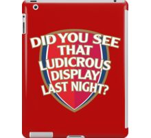 Did you see that Ludicrous display last night? iPad Case/Skin