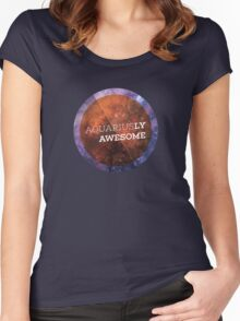 Aquariusly Awesome Women's Fitted Scoop T-Shirt