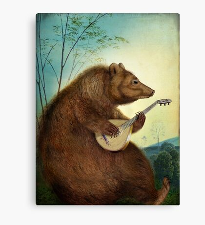 Mandolin Bear Canvas Print