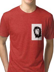 Minimalism - Black And White Girl  Tri-blend T-Shirt