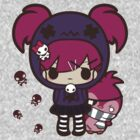 PASTEL GOTH GIRL WITH PENGUIN by cookie-cvnt