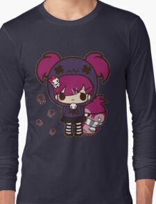 PASTEL GOTH GIRL WITH PENGUIN Long Sleeve T-Shirt