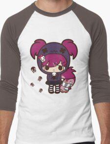 PASTEL GOTH GIRL WITH PENGUIN Men's Baseball ¾ T-Shirt