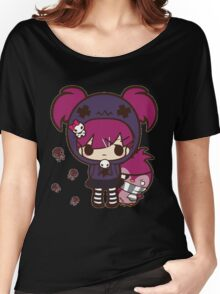 PASTEL GOTH GIRL WITH PENGUIN Women's Relaxed Fit T-Shirt