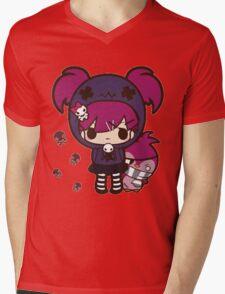PASTEL GOTH GIRL WITH PENGUIN Mens V-Neck T-Shirt