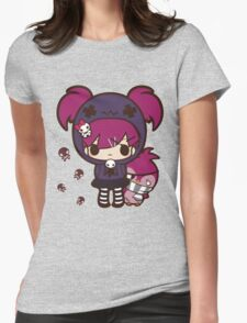 PASTEL GOTH GIRL WITH PENGUIN Womens Fitted T-Shirt