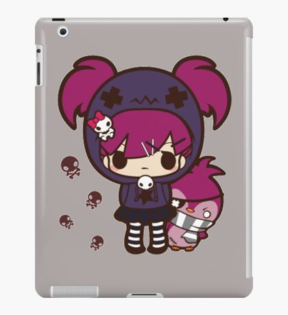 PASTEL GOTH GIRL WITH PENGUIN iPad Case/Skin