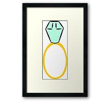 Engagement Ring Framed Print