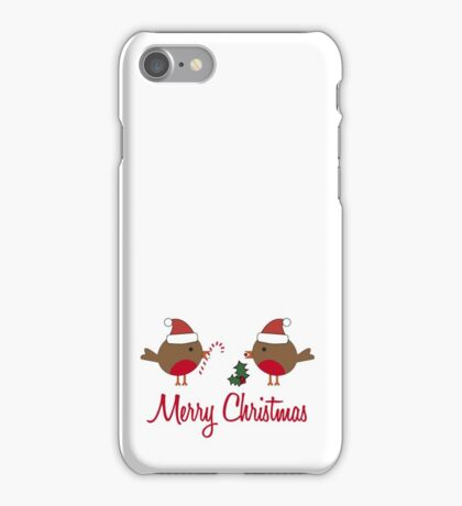 Robin Redbreast Christmas Gift iPhone Case/Skin