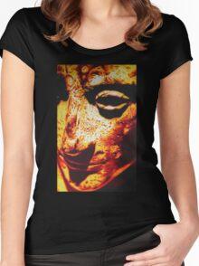 ROMAN EMPEROR AUGUSTUS IN SHARPIE MARKER Women's Fitted Scoop T-Shirt
