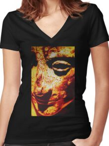 ROMAN EMPEROR AUGUSTUS IN SHARPIE MARKER Women's Fitted V-Neck T-Shirt