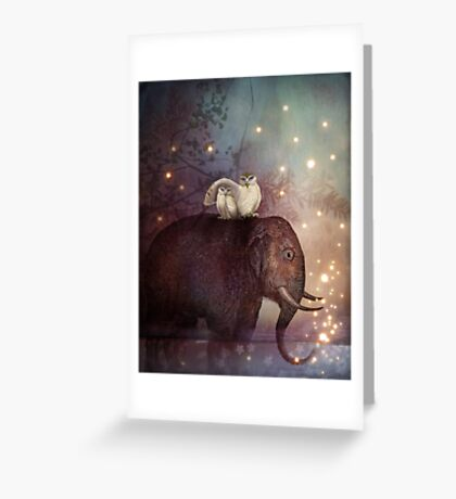 Riding through the Night Greeting Card