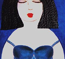 BLUE DRESS  by Mariaan M Krog Fine Art Portfolio