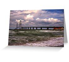 The Great Belt Bridge Greeting Card