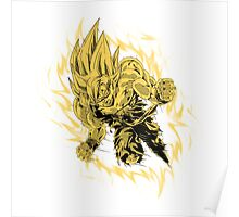 Goku (Super Saiyan) [White] Poster