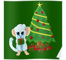 Fluffy Christmas Mouse Poster