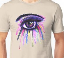 Watercolor Eye in Anime Style Unisex T-Shirt