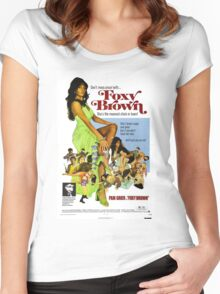 Foxy Brown (Blue) Women's Fitted Scoop T-Shirt