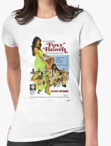 Foxy Brown (Blue) Womens Fitted T-Shirt