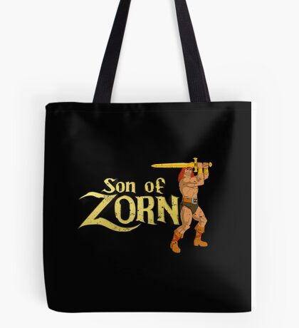 Son of Zorn Fan Art Print Design Distressed on Black Tote Bag