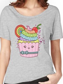 RAINBOW CUPCAKE Women's Relaxed Fit T-Shirt
