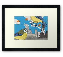 blue tit urban Framed Print