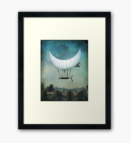 The Moon Ship Framed Print