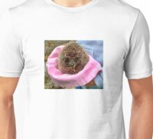 Tiny Hedgehog In A Hat  Unisex T-Shirt