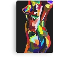 Nude In Colour Canvas Print