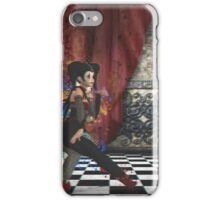 Anaglyph of joker girl iPhone Case/Skin