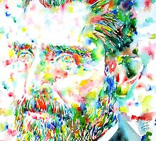 VAN GOGH - watercolor portrait by lautir