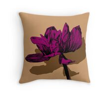 magnolia pink Throw Pillow
