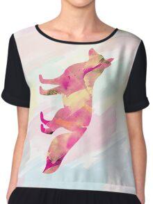 Abstract Fox Chiffon Top