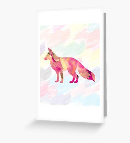 Abstract Fox Greeting Card