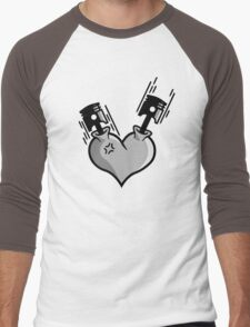 Heart Engine (3) Men's Baseball ¾ T-Shirt