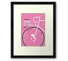 My Giro d'italia Minimal poster Framed Print