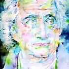 GOETHE - watercolor portrait by lautir