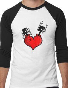 Heart Engine (4) Men's Baseball ¾ T-Shirt