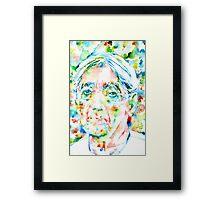 JIDDU KRISHNAMURTI watercolor portrait.3 Framed Print