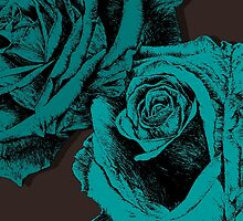 roses turquoise by andley