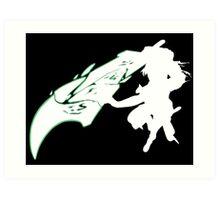 Riven - League of Legends - White Art Print