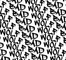 Bad Wolf - Doctor Who Graffiti Pattern by SaraduJour
