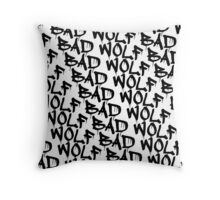 Bad Wolf - Doctor Who Graffiti Pattern Throw Pillow