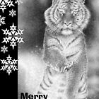Siberian Tiger Christmas Card by Lorna Mulligan