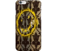 Sherlock Smiley Face Damask Wallpaper iPhone Case/Skin