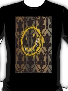 Sherlock Smiley Face Damask Wallpaper T-Shirt