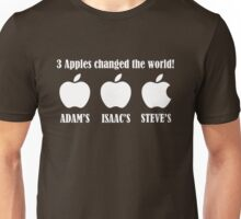 3 Apples changed the world - Apple Steve Jobs Memorial  Unisex T-Shirt